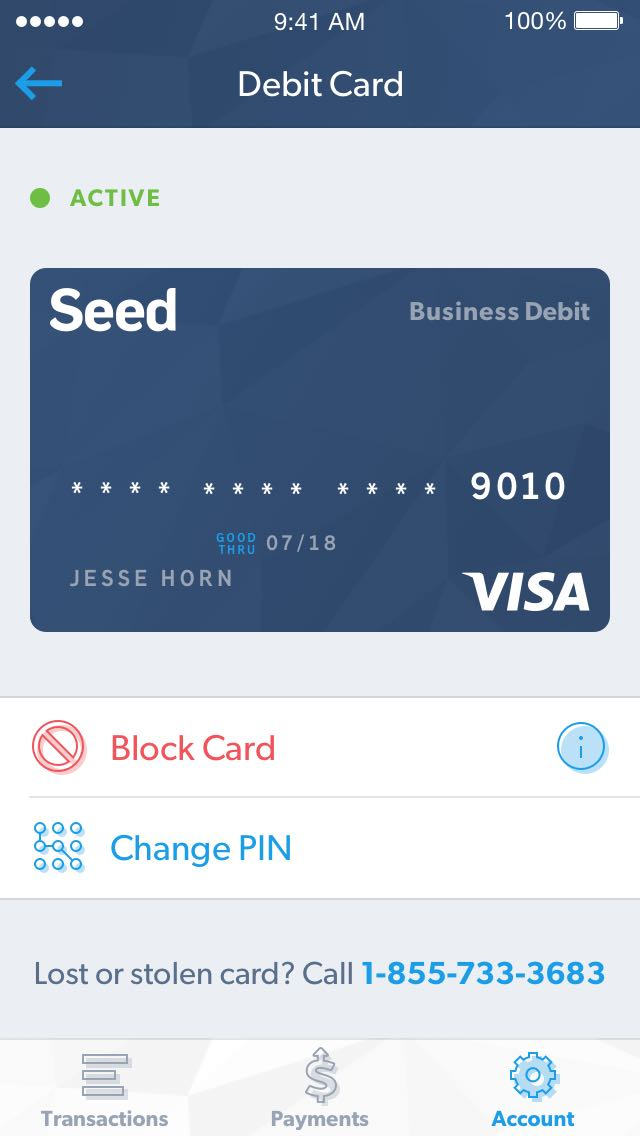 Seed | features - debit card
